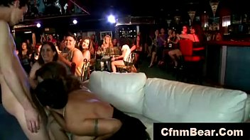 Stripper getting blowjobs from amateur CFNM babes