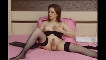 Hot Shemale Milf Jacking Off on Cam