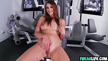 brown-haired shae snow jacks during workout