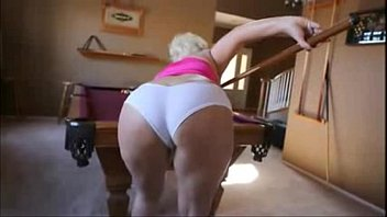 Huge Tits Fat Ass Claudia Marie Demonstrates Shooting Pool