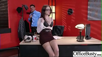 Slut Girl (Anna De Ville) With Round Huge Tits Get Nailed In Office vid-04