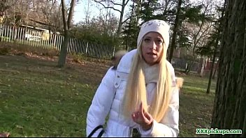 silver ash-blonde czech dame picked up and drilled 12