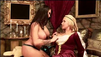 hefty boobies and damsel on female
