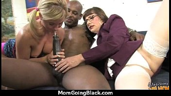 Big tits bounce on a black cock and mom joins in 29