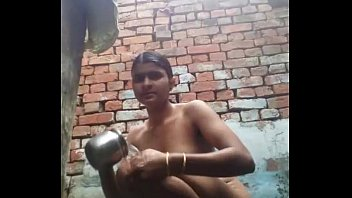 Indian bathing girl