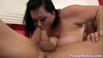 Hugetitted BBW babe screwed in many poses