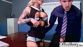(Kleio Valentien) Busty Sexy Office Girl Busy In Hard  Sex Act video-30
