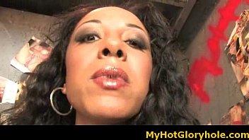 Black girl sucking their first big white cock 27