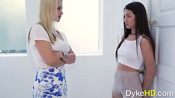 Slender Lily Adams and MILF Sarah Vandela Like Licking Pussy