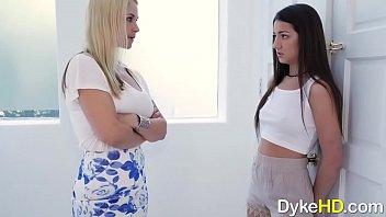 Slender Lily Adams and MILF Sarah Vandela Like Licking Pussy