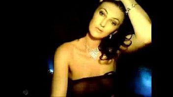 Hot Petite Brunette Black Lingerie Topless