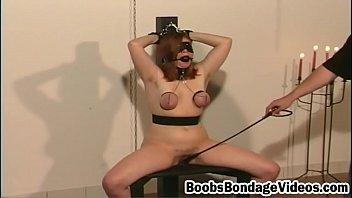 Kinky boobs bondage as sleazy beauty begs smashed
