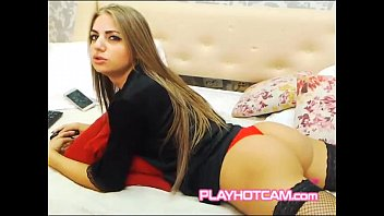 Stacked Long Hair Stunner Trying To Get Your Attention For PLAYHOTCAM
