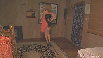 Sexy blonde Aubrey teases