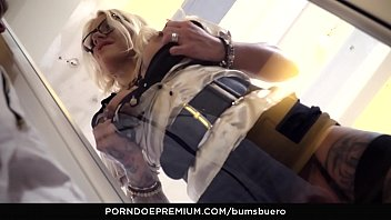 BUMS BUERO - Busty tattooed chick Fit XXX Sandy hot blowjob and hard fuck