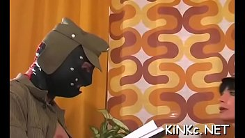 Kinky mistress foot bonks slave'_s ass hard and gets dildoded