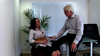 Cfnm sluts walk in on their naked boss and his secretary