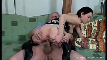 Old daddy fucking beauty undressed brunette babe
