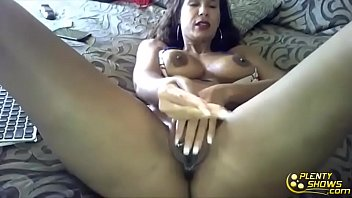 Sexy milf  with oiled milf body and big tits