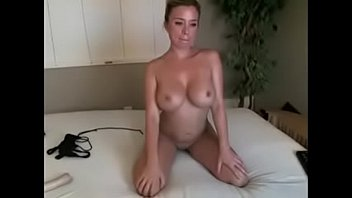perky milf with huge breasts fingers herself to climax