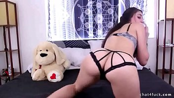 Watch sexy brunette plays with her big pussy lips at chat4fuck.com.mp4To
