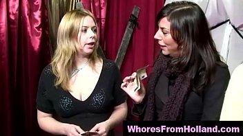 Blonde Dutch hooker sucks her amateur client