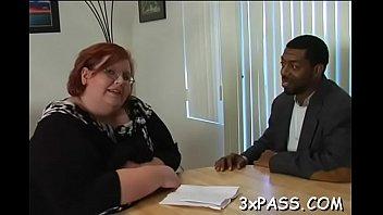 obese pummeled by ebony stud