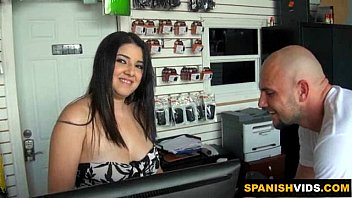 Naughty Latina Sucks A Big Cock At Work