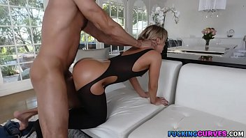 Blonde With Big Booty in Stockings