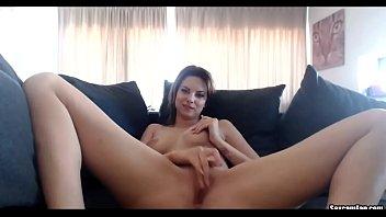 Hot cam girl masturbates  on webcam