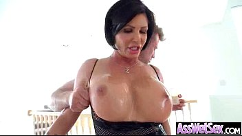 Oiled Horny Big Butt Girl Get Bang Deep In Ass clip-28