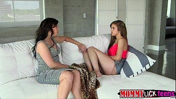 Teen Brooke and MILF Naomi shares and plays big vibrator