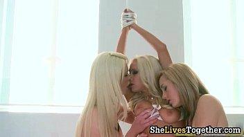 naughty supah-sexy ash-blonde stunners getting nude