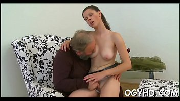 Breathtaking young gal rides old ramrod