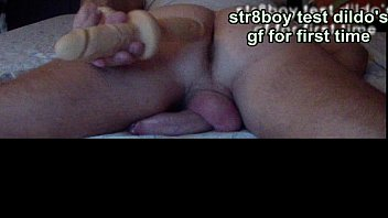 STR8 BOY TEST DILDO'_S GIRLFRIEND FOR FIRST TIME