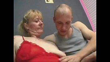 furry grannie gets a facial cumshot