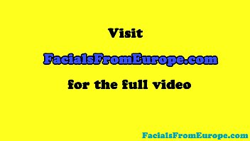 Busty facialized european amateur sucking pov