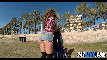 Babe gets fucked on a public beach 2