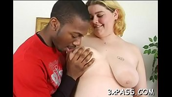 Fat angel is performing great blowjob to her black boyfriend