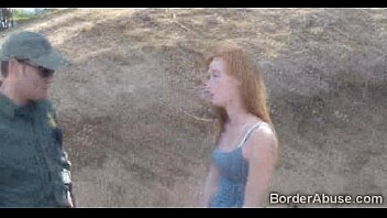 Redhead teen fucked by border officer