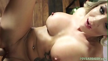 Bigtits taboo babe POV fucked by stepdad