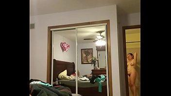 wifey getting clad hiddencam