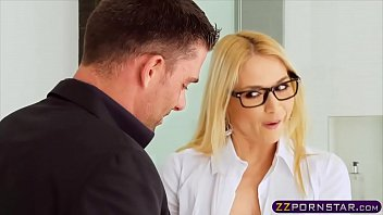 Busty blonde real estate agent gets double penetrated