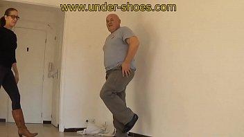 dominatrix rabia savage shoes stomp and brutish kicking.
