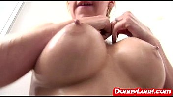 Donny Long titty fucks big titty attention whore and breaks her pussy