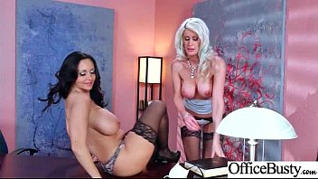 (Ava Addams &amp_ Riley Jenner) Big Huge Tits Office Girl Love Intercorse video-09