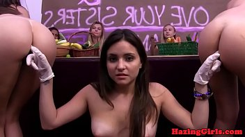 pussylicking girl-on-girl hazes fresh sorority stunner