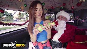 BANGBROS - Petite Teen Kiley Jay Giving Back To Santa Claus on Bang Bus