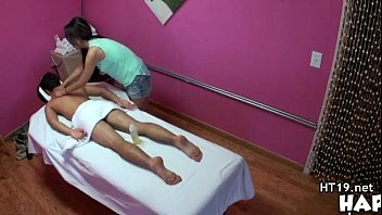 Asian soapy handjob in the local massage parlor