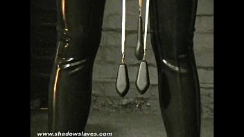 Sensory deprived slaveslut Cherry Torns leather fetish and extreme bdsm of ameri